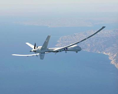 Noaa Photograph - Altair Unmanned Aerial Vehicle by Nasa/carla Thomas