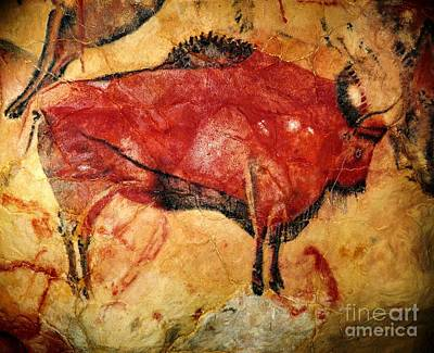 Pd Painting - Altamira Cave Painting by Pg Reproductions