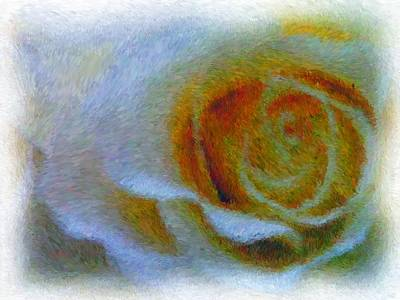 Manipulation Photograph - Altered Rose 2 by Rhonda Barrett