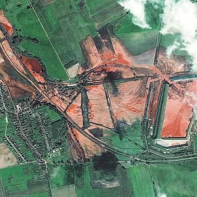 Alumina Sludge Spill Print by Digital Globe