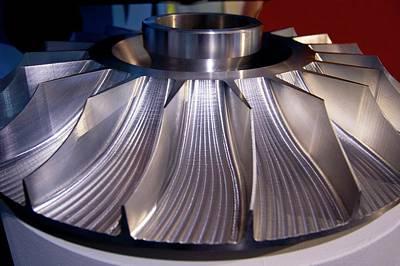 Aluminium Impeller Fan Print by Mark Williamson