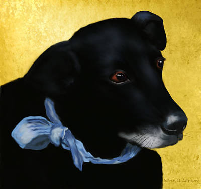 Pup Digital Art - Alvin The Debonair by Sannel Larson