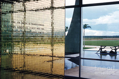 Oscar Photograph - Alvorada Palace At Brasilia Detail Of Entrance 1959 by The Harrington Collection