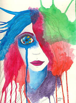 Tear Drawing - Always The Clown by Emily Alexander