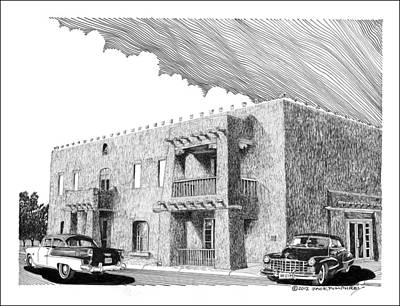 Amador Hotel In Las Cruces N M Print by Jack Pumphrey