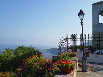 Vintage Style Photograph - Amalfi Coast Italy Sea View by Irina Sztukowski
