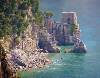 Amalfi Coast Watchtower Original by Marilyn Dunlap