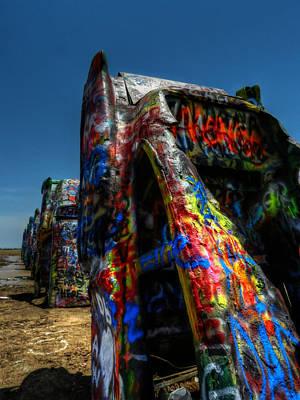 Installation Art Photograph - Amarillo -  Cadillac Ranch 006 by Lance Vaughn