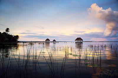 Water Reflections Photograph - Amazing Bay Sunset by Yuri Santin