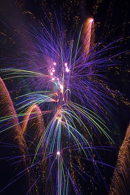 Amazing Beautiful Fireworks Print by Garry Gay