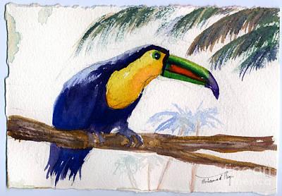 Yellow Beak Painting - Amazonian by Mohamed Hirji