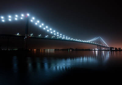 Ambassador Bridge Fog Print by Cale Best