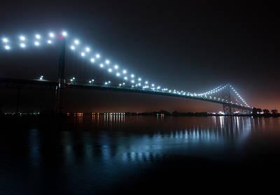 Ambassador Photograph - Ambassador Bridge Fog by Cale Best