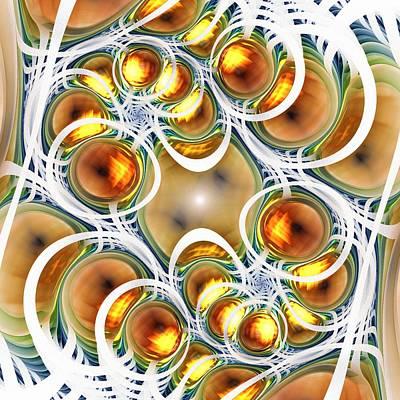 Amber Clusters Print by Anastasiya Malakhova
