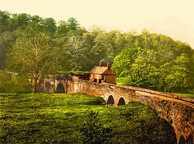 Ambergate.halfpenny Bridge.derbyshire-england Print by Don Kuing