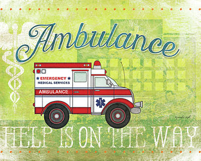 Ambulance Print by Jennifer Pugh
