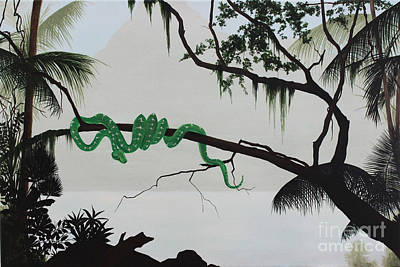 Dlgerring Painting - Ambush In The Amazon by D L Gerring