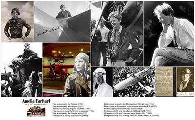 Amelia Earhart Print by Don Struke