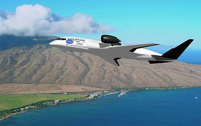 Amelia Hybrid Aircraft Print by Nasa/cal Poly