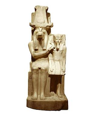 Statue Portrait Photograph - Amenhotep IIi And God Sobek. S.xiv Bc by Everett