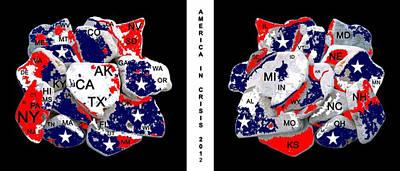 Ww11 Digital Art - America In Crisis 2012 by Bruce Iorio