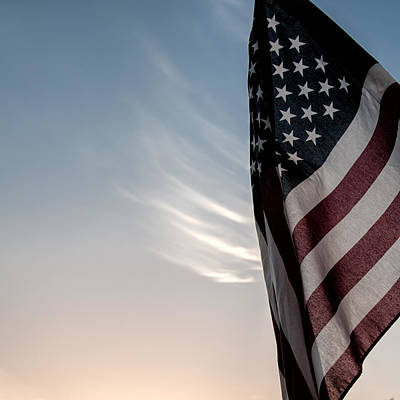 Old Glory Photograph - America by Peter Tellone
