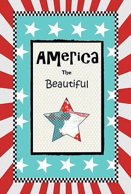 July Painting - America The Beautiful by Sarah Ogren