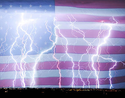 America The Powerful Print by James BO  Insogna