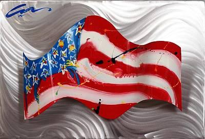America Wave Print by Mac Worthington