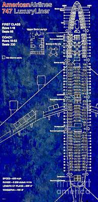 Airliners Mixed Media - American Airlines 747 by Daniel Janda