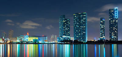 American Airlines Arena Photograph - American Airlines Arena And Condominiums by Carsten Reisinger