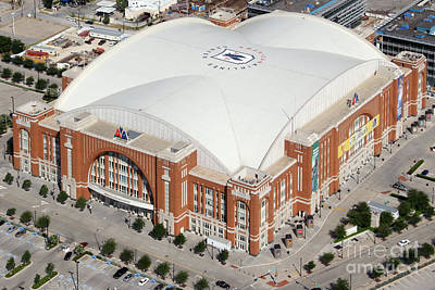 American Airlines Center Dallas Print by Bill Cobb