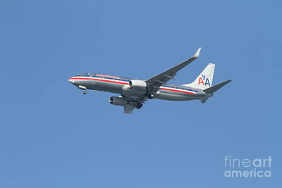 American Airlines Jet 7d21917 Print by Wingsdomain Art and Photography