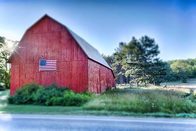 Prairie Photograph - American Barn by Sebastian Musial