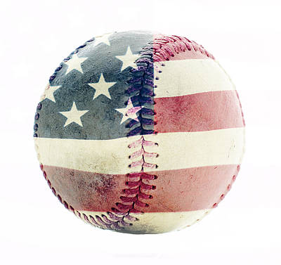 Softball Photograph - American Baseball by Terry DeLuco