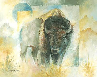 American Bison Buffalo Bull Original by Christiaan Bekker