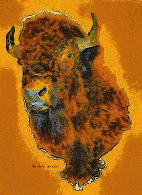 American Buffalo Print by Barbara Snyder