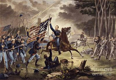 Civil Painting - American Civil War General   Philip Kearny by American School