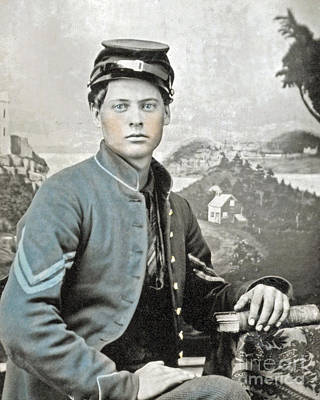 The General Lee Photograph - An American Civil War Soldier by Celestial Images