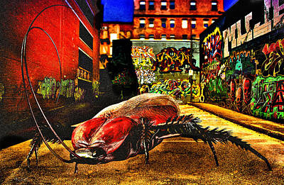 Cockroach Digital Art - American Cockroach by Bob Orsillo