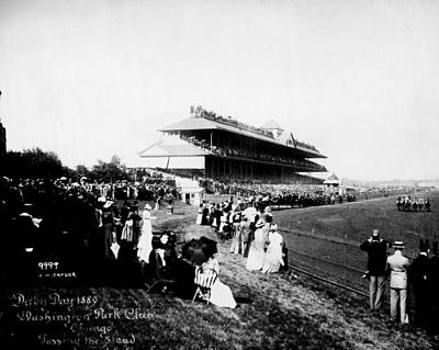 American Derby Horse Racing Washington Park  Print by Retro Images Archive