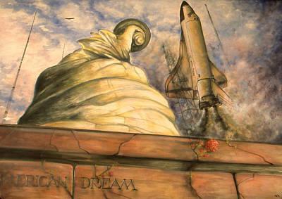 America Painting - American Dream - Watercolor by Art America Online Gallery