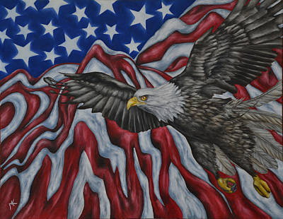 American Eagle Painting - American Eagle by Maria Kucera