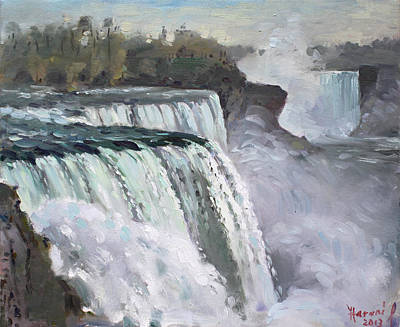 American Falls Niagara Print by Ylli Haruni