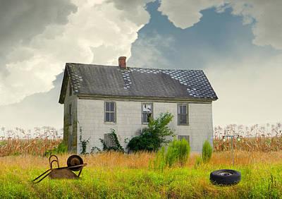 Cornfield Digital Art - American Farmhouse by Matthew Schwartz