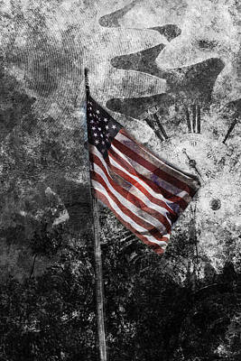 American Flag And Time Original by Toppart Sweden