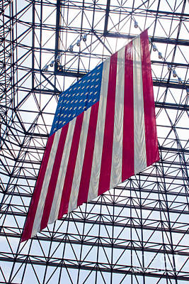American Flag At The Kennedy Library IIi Print by Thomas Marchessault