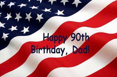 Patriotism Painting - American Flag Birthday Salute by Floyd Snyder