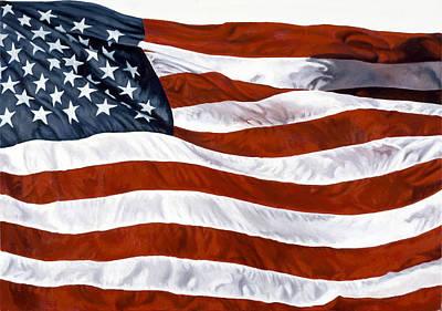 Zaccheo Painting - American Flag by John Zaccheo