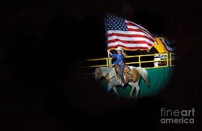 American Flag On Display Print by Robert Bales